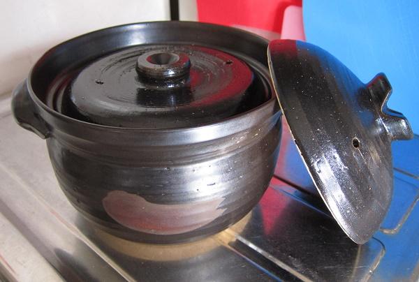 炊飯土鍋 ごはんや讃炊飯鍋 3合炊き の写真