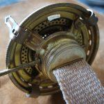 オイルランプの芯を交換